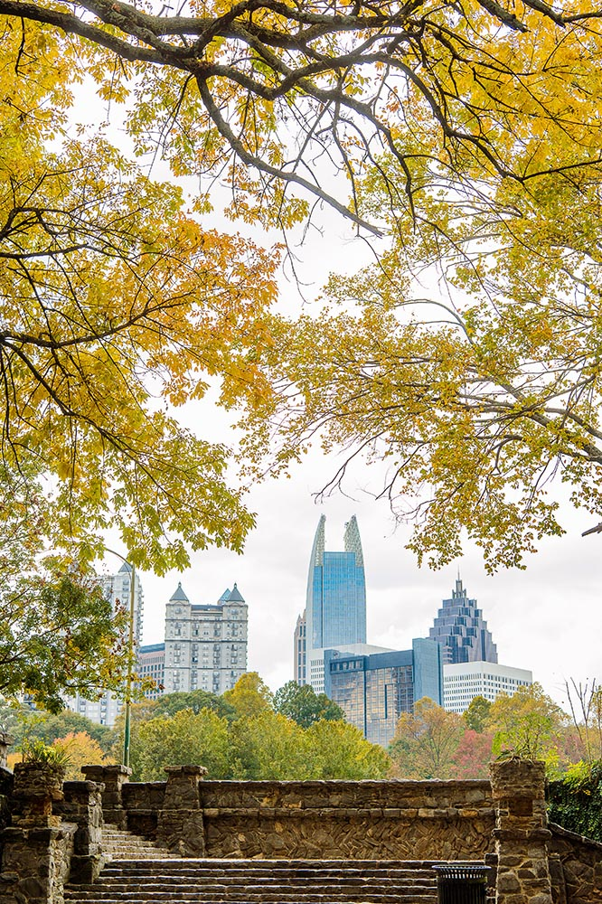 Atlanta Skyline Piedmont Park Fall